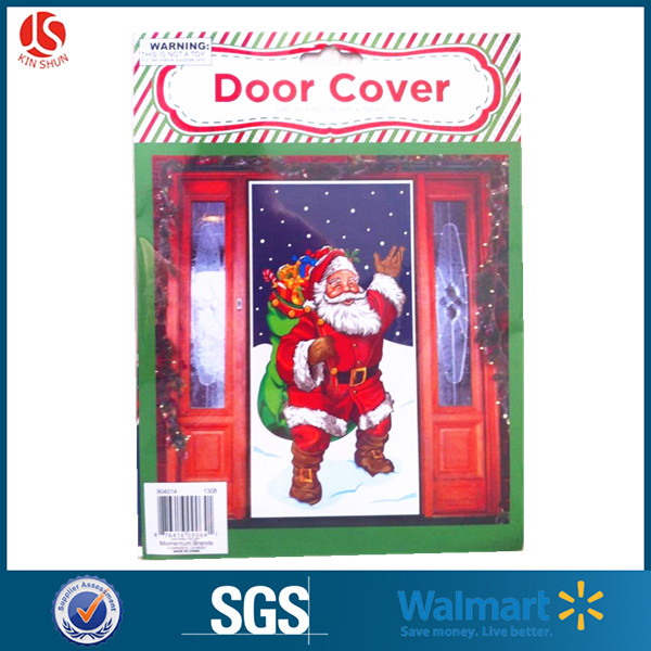 Happy Christmas Plastic Type PE Material Wall Decortaion Door Cover