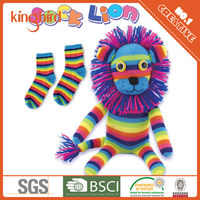 2016 rainbow diy pattern sock doll