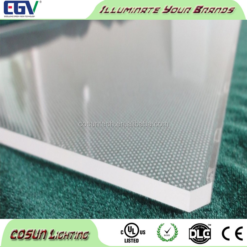 clear acrylic lamp shade for advertising or decorating LED light guiding board