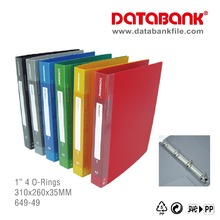 "Office School Stationary A4 Plastic PP Filing 1"" 4 O-Ring Ring Binder"