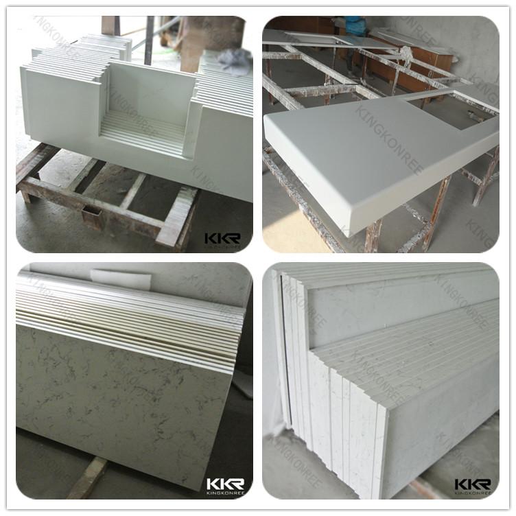 Kitchen Cabinet Countertop Atificial Stone Quartz Prefab