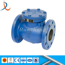 API 6D flanged stainess steel swing check valve price / one-way valve / hydraulic controlled check valve