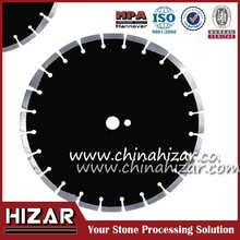 Sintered diamond saw blade for cutting marble granite asphalt