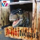 Model Hide in Box for Outdoor Theme Decorations Robotic Artificial Life-size Fiberglass Park Dinosaur Head