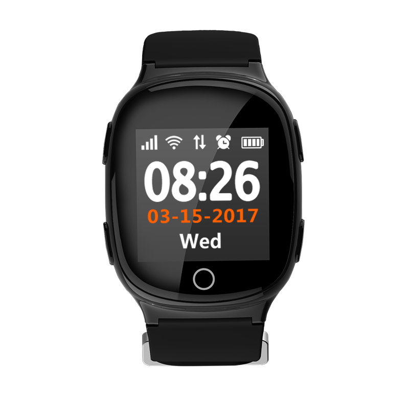 WiFi LBS GPS Watch Fall Alarm SOS <strong>Mobile</strong> Watch <strong>Phone</strong> GPS Tracker Heart Rate Monitoring Smart Watch for Older Adult
