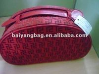 promotional fashion new product cosmetic bag and cases in red color