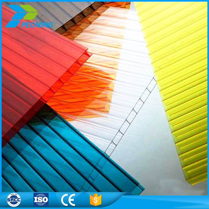 Professional factory supply polycarbonate carbonate hollow skylight diffuser marklon polyglass panel sheet
