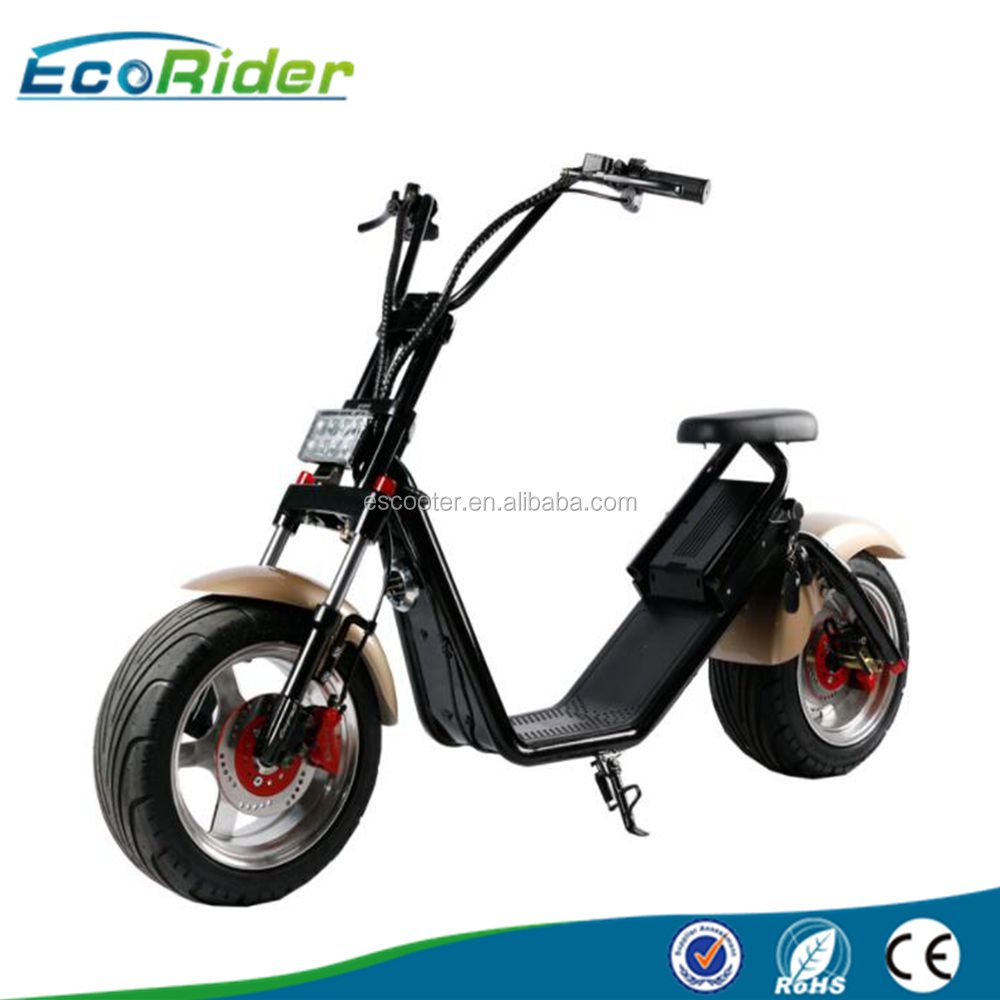Ecorider electric motorcycle scooter 1500w CE EEC fat tire electric scooter city coco