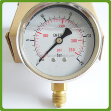 Bourdon tube oil cater pillar pressure gauge