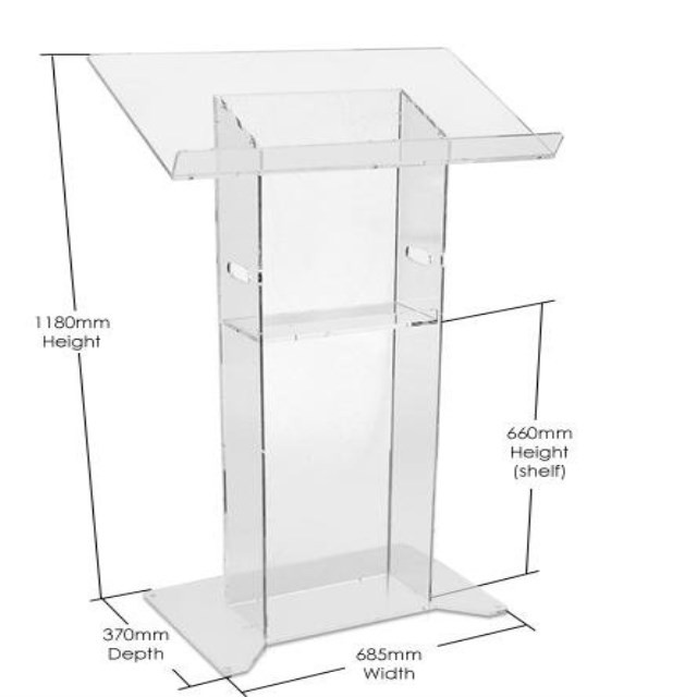 Customized sizes cheap acrylic church podiums lectern for sale