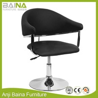Swivel adjustable leather arm salon chair