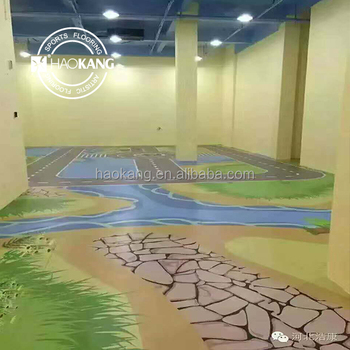 Environment friendliness PVC flooring for children