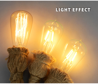 Loft блеск очень светодиодные E27 лампы Powers светильник старинные лампа промышленные светильники кухня свет ретро американский стиль домашний декор полномочия