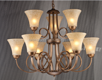 2015 HOT-SALE CLASSICAL EUROPEAN STYLE IRON ART CHANDELIERS AND GLASS PENDANT LIGHT/LAMP GLASS CHANDELIERS