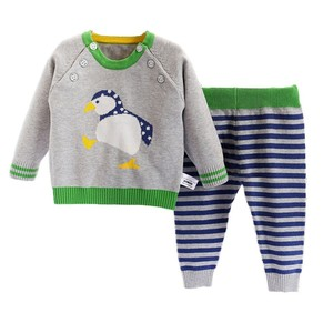 Hot children worsted fabric type cheap baby girl clothing set