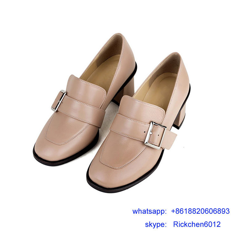 Block heel italy design thick sole shoe women