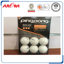 40+seamless 3 star white plastic table tennis balls