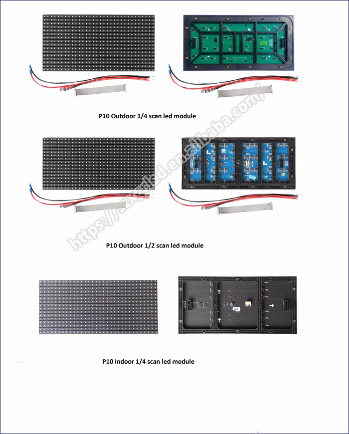 Shenzhen cheap hd hub75 16*32 320x160 led display module p10 outdoor