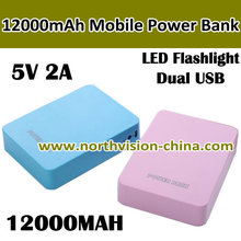 mobile phone power bank 12000mah with customised logo