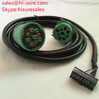 9 pin deutsch connector J1939 type II male to female connector and Molex connector 20pin