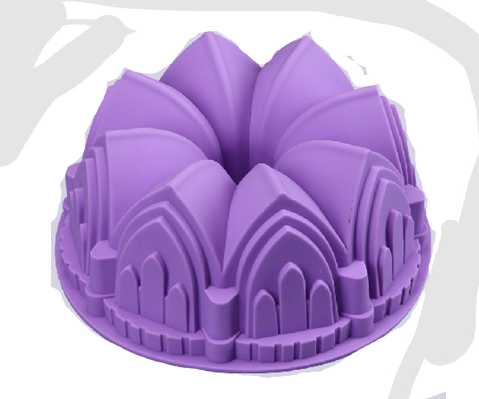 Castle Shape Large Silicone Crown Swirl Bundt Cake Pan/Silicone Bakeware Mold