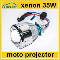 2.5 inch 35W HID bi xenon projector headlight for motorcycle with angel eye devil eye