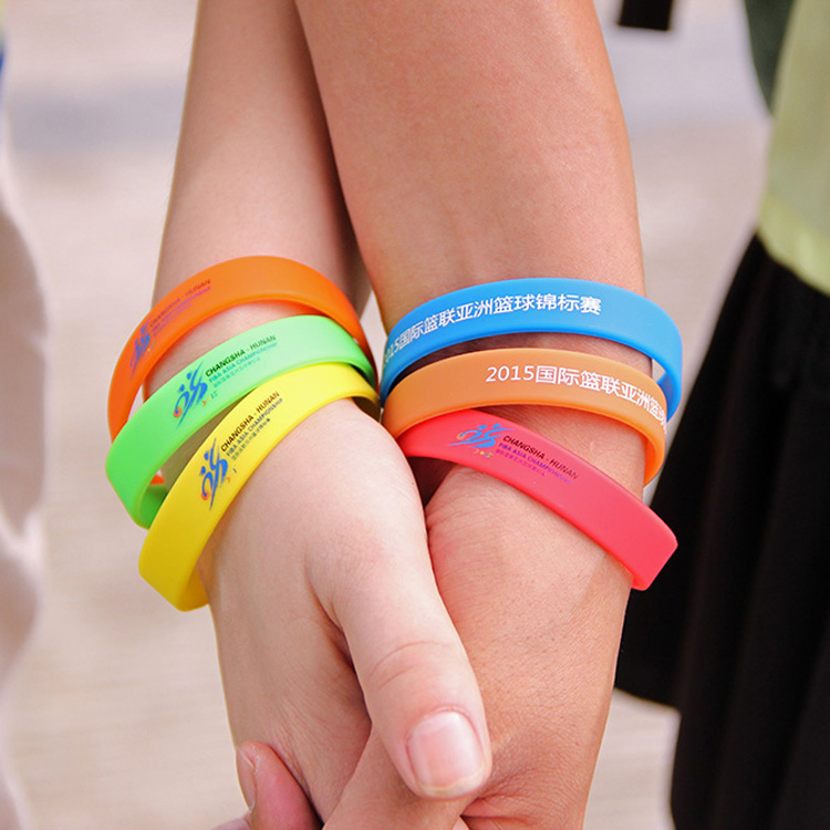 Promotional gifts colorful silicone wristband atcolorful silicone wristband