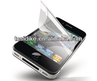 High clear 3 layers of silicone front screen protective film for iphone 5/5s/5c