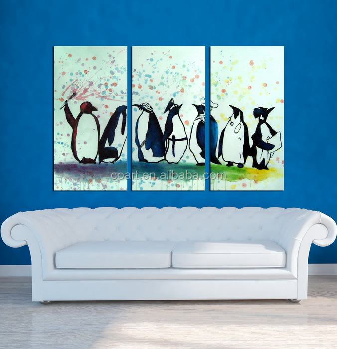 Abstract oil animal canvas painting