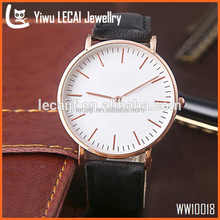 Leather Watch Vintage Men's D Wristwatch For Ladies Black and Brown Leather Watch Strap