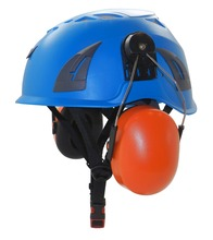 AU-M02 China factory price PP shell engineering safety helmet with peltor