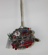 Latest China best popular product 12x12x12cm Christmas Ball made of iron wire for Xmas decoration