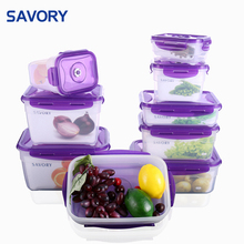Savory professional vented tiffin lunch vacuum plastic food container