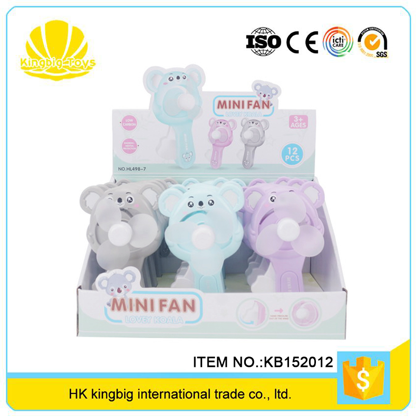 eco friendly funny summer gift koala hand mini fan toy for kids with three color
