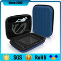blue pu leather cover eva tool travel case with foam insert