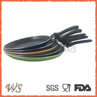 Hot sell Carbon Steel Non-stick Round Pizza Pan with Bakelite Handle