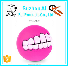 Pet Funny Teeth Chew Squeaker Sound Play Dog Ball Toy
