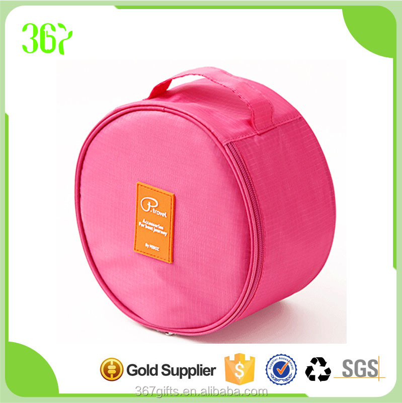 Makeup Pouch Cosmetic Bag Travel Round Shape Cute Ladies Toilet Bag