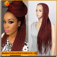 99J synthetic hair lace front wig hand made braided lace synthetic wig