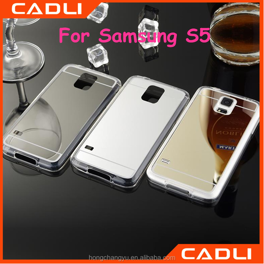 Mirror Plastic Crystal TPU Phone Cases For Samsung galaxy S5