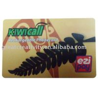 PVC Scracth panel phone card