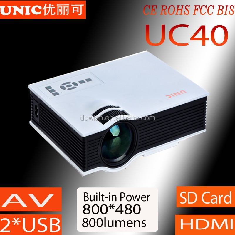 2015 Newest 800*480 1080p support UC40 portable projector, entertainmet projector,led beamer