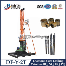 100-500m skid mounted wireline core sample drill rig with SPT kit