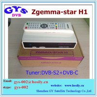 Zgemma Star H1 HD satellite tv receiver Enigma2 linux OS with with internet connection OTT build in