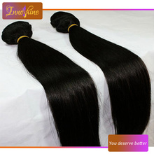 Wholesale Brazilian Remy Human Hair 1#color Silky straight human hair weaving