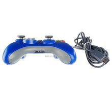 Wired USB gamepad controller for MICROSOFT Xbox 360 PC Windows7 XP-Blue