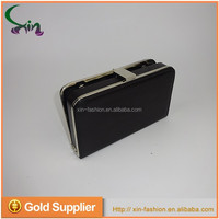 Black simple style metal frame ladies style evening clutch purse