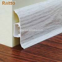RAITTO Brand PVC Rubber Skirting Board Moulding