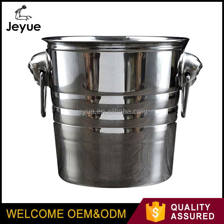 2017 new products round shape stainless steel champagne ice bucket