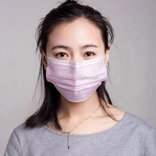 Disposable nonwoven medical face mask